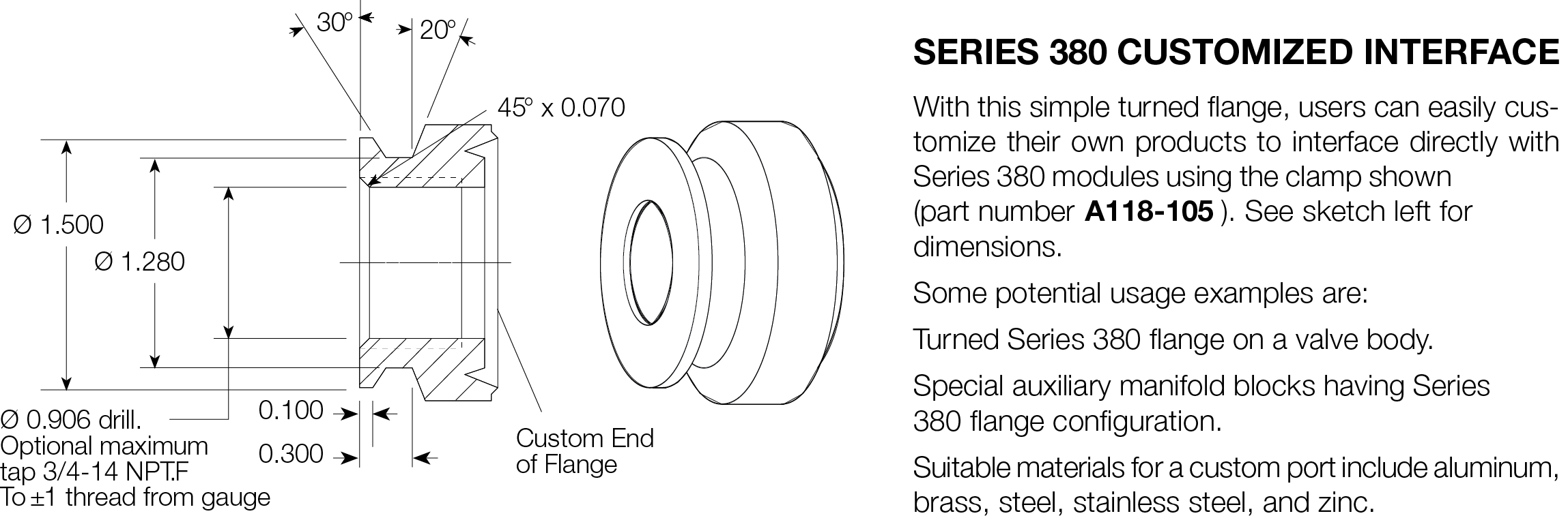 380 SERIES CONNECTOR DIMENSIONS