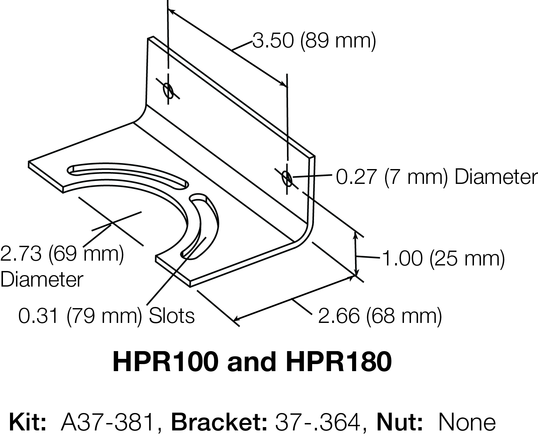 HPR100 AND HPR180 BRACKET