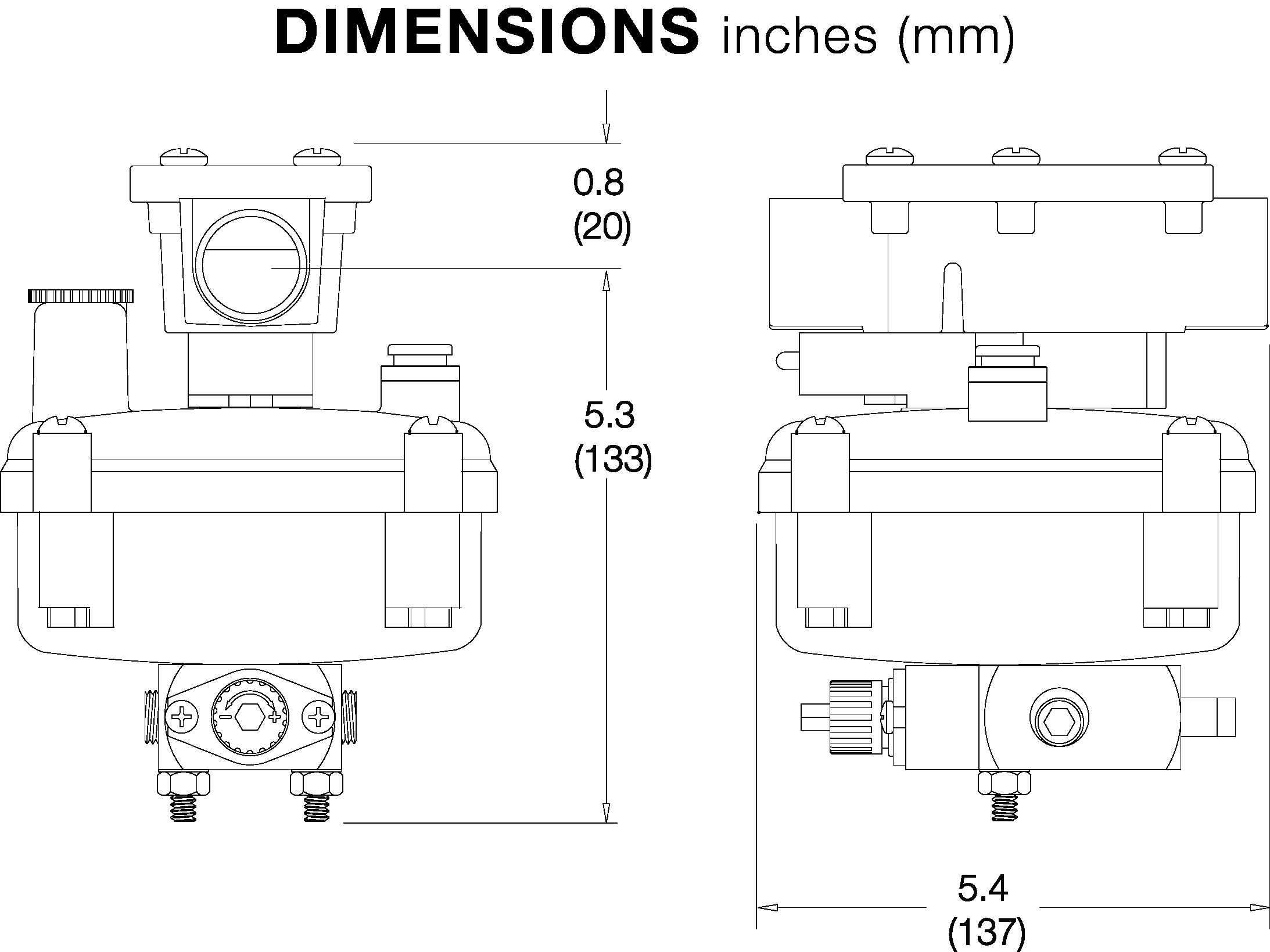 PD640 DIMENSIONS