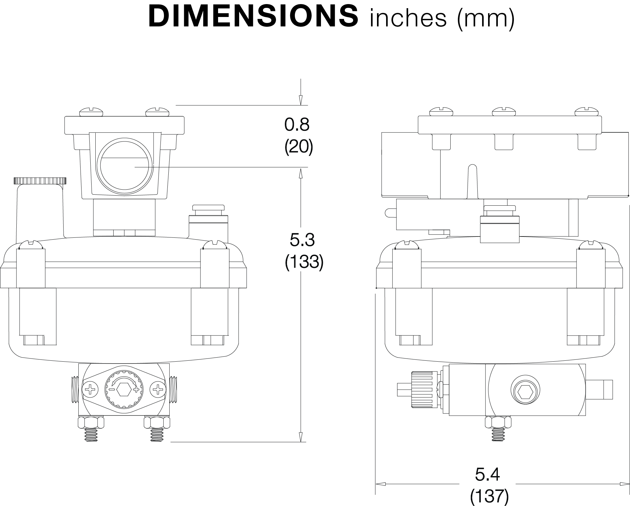DIMENSIONS FOR PA640